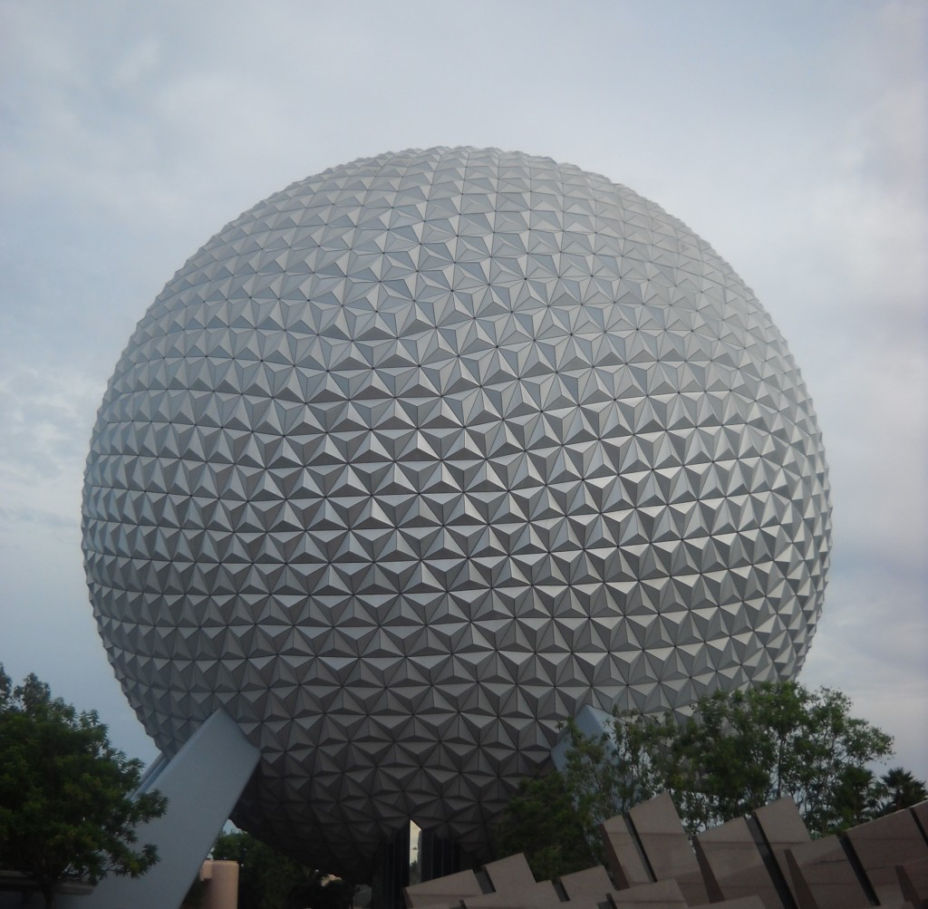 The big golf ball at Epcot!